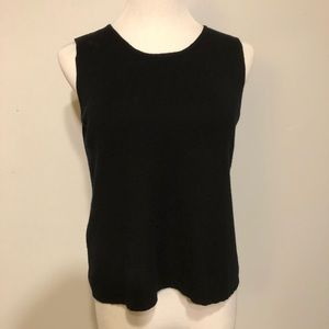 EUC- Eileen Fisher Black Sleeveless Merino Top- M